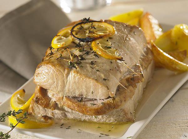 Rôti de thon germon au Pâté Hénaff