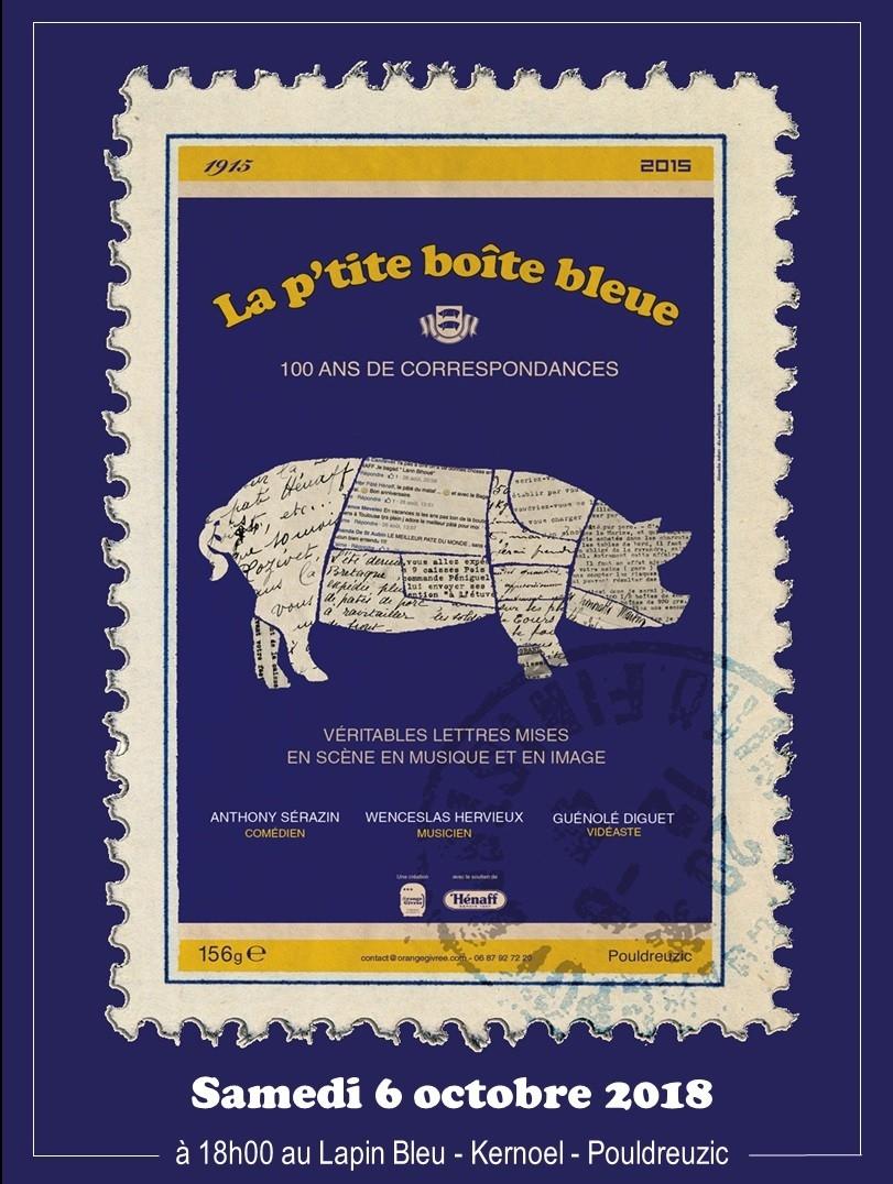 Pâté Hénaff la petite boîte bleue Pouldreuzic spectacle théâtre finistère Bretagne