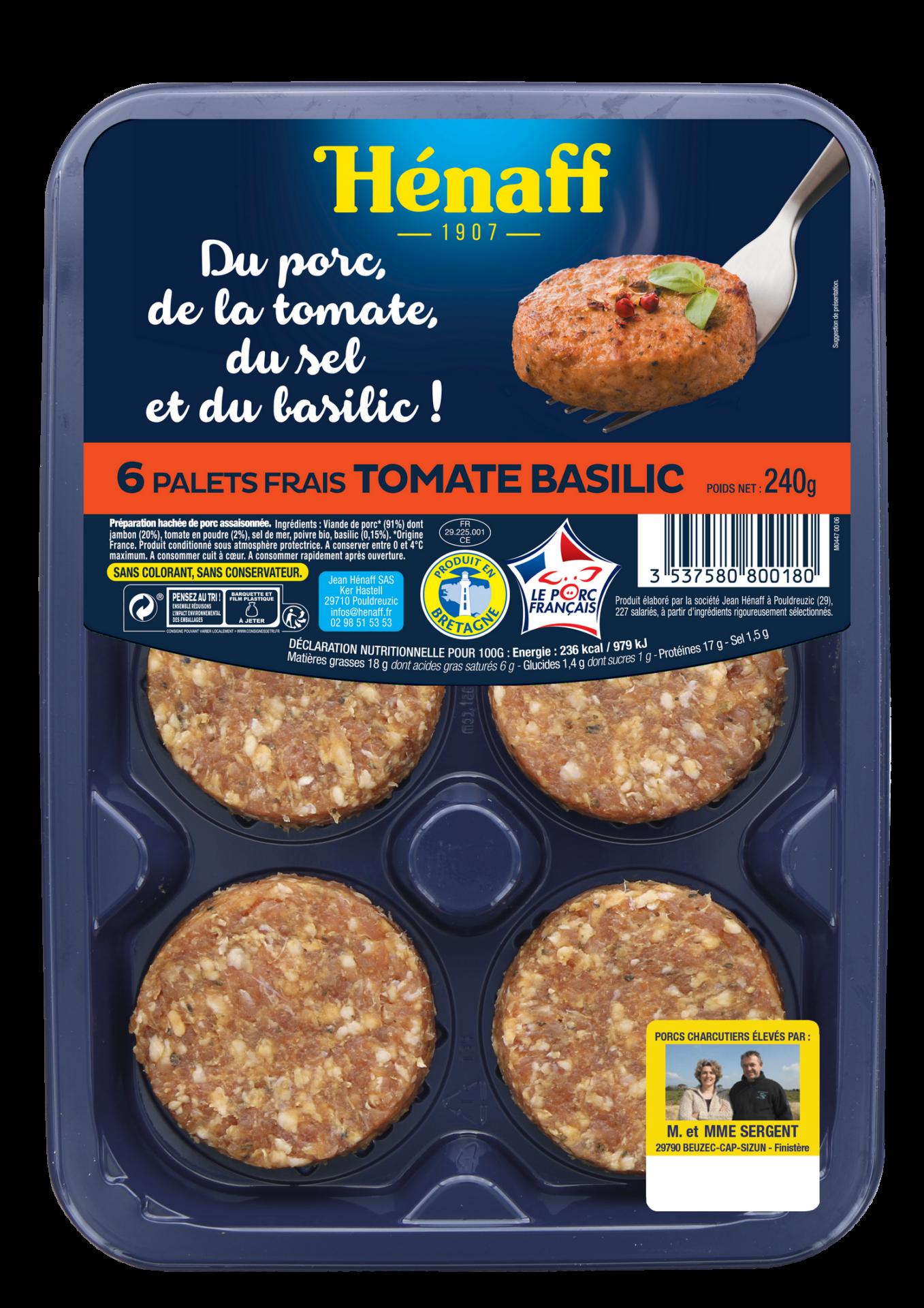 Palets frais Hénaff - tomate basilic