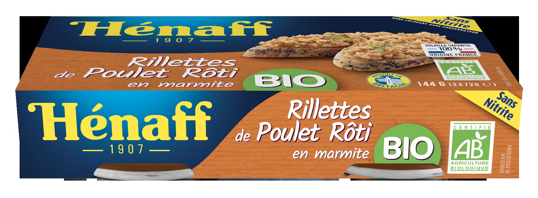Rillettes de poulet rôti en marmite BIO