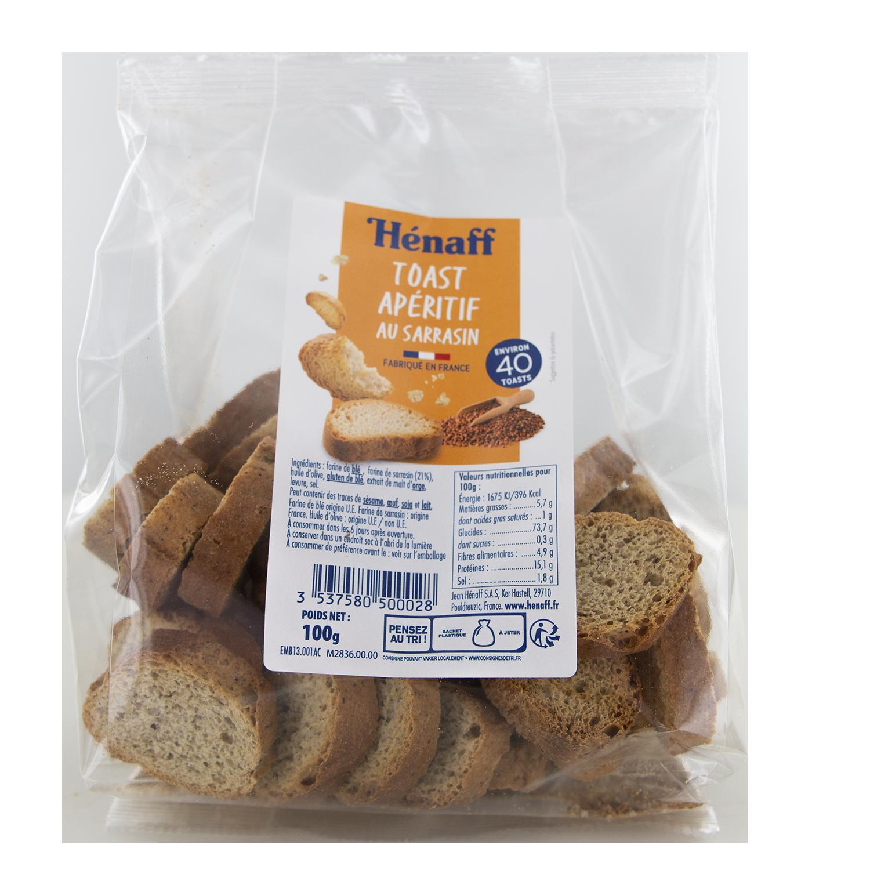 Toast apéritif au sarrasin